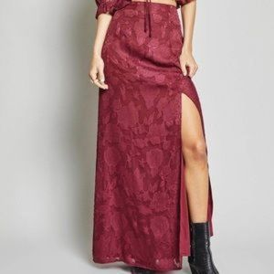 SAGE THE LABEL Maxi Slit Skirt
